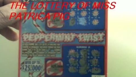Thumbnail for entry The Lottery of Miss Patricia Pig