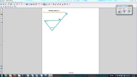 Thumbnail for entry Exterior Angle Theorem (using Algebra)-Quiz-Q8