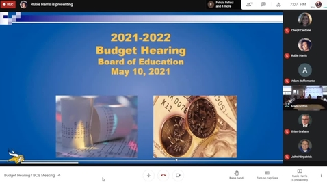 Thumbnail for entry Grand Island CSD BOE Budget Hearing-General Meeting 5-10-2021