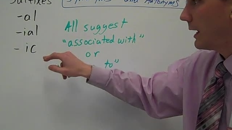 Thumbnail for entry al, ial, ic synonyms and antonyms