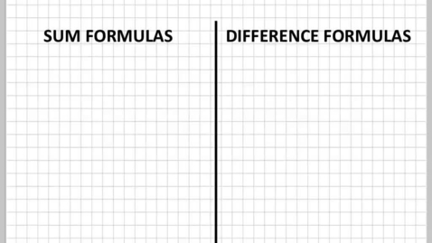 Thumbnail for entry Sum and difference formulas part1