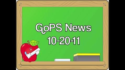 Thumbnail for entry GoPS News 10-20-11