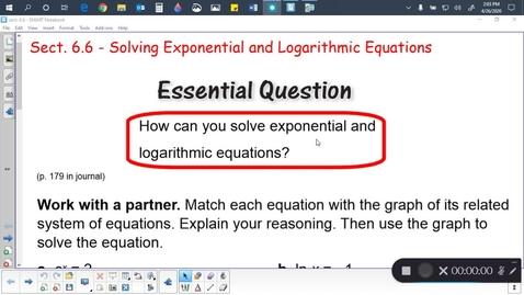 Thumbnail for entry Alg 2B Sect. 6.6 (part 1)