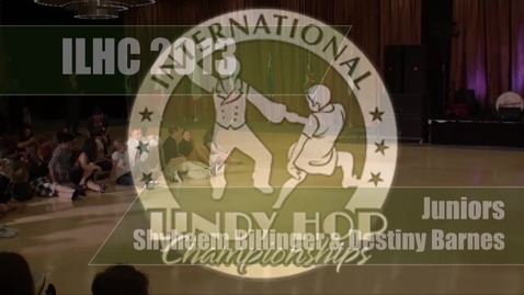 Thumbnail for entry ILHC 2013 Juniors Shyheem Billinger & Destiny Barnes
