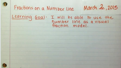 Thumbnail for entry Fractions on a Number Line