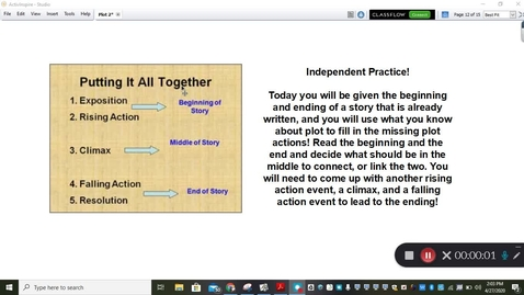Thumbnail for entry Reading Mini Lesson Plot Fill In The Steps