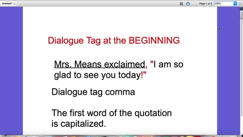 Thumbnail for entry Quotations and Dialogue Tags
