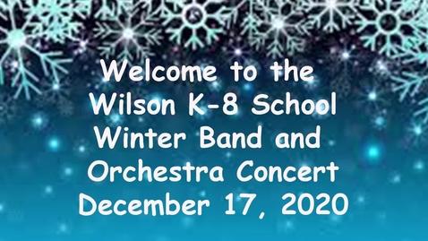 Thumbnail for entry Wilson Winter Concert