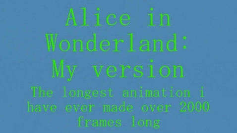 Thumbnail for entry Alice in Wonderland Pivot