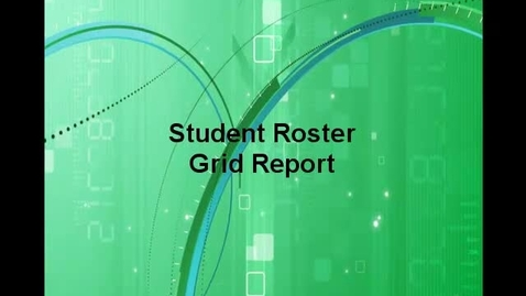 Thumbnail for entry Student Roster Grid