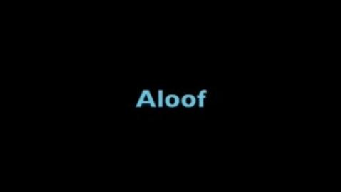 Thumbnail for entry aloof-BrainyFlix.com Vocab Contest