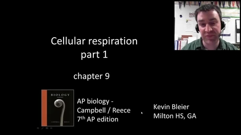 Thumbnail for entry Cellular respiration (part 1 of 2)
