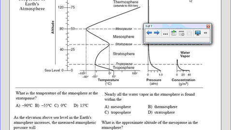 Thumbnail for entry Layers of the Atmosphere- Earth Science Reference Tables