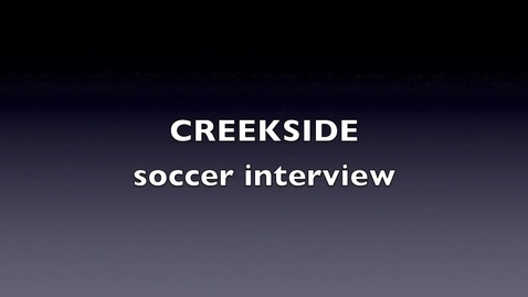 Thumbnail for entry soccer coach interview
