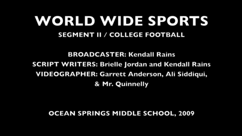 Thumbnail for entry World Wide Sports Segment 2