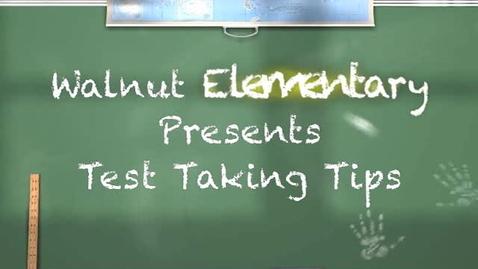 Thumbnail for entry Test Taking Tips