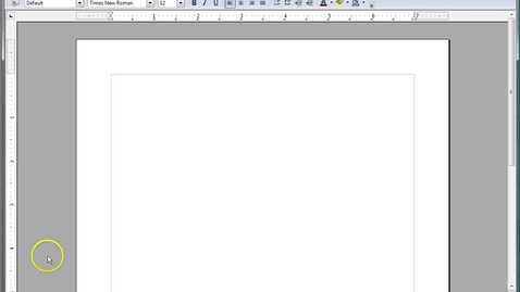 Thumbnail for entry Review Menus and Toolbars in OpenOffice.org™ Writer