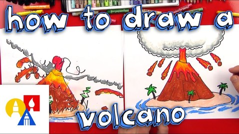 Thumbnail for entry How To Draw A Volcano