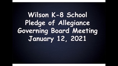 Thumbnail for entry Wilson K-8 School Pledge of Allegiance