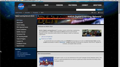 Thumbnail for entry Signing up for a NASA Virtual Field Trip