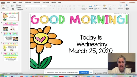 Thumbnail for entry March 25 Morning Meeting 1