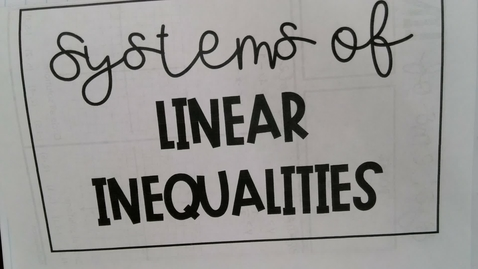 Thumbnail for entry Systems of Linear Inequalities