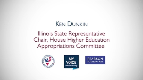Thumbnail for entry My Voice NSME 2012 PSA: Ken Dunkin, Illinois State Representative