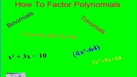 Thumbnail for entry How To Factor Polynomials - Alon and Muhammad
