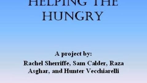 Thumbnail for entry Hunger Awareness