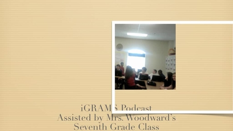 Thumbnail for entry iGRAMS Seventh Grade Peer Coaches