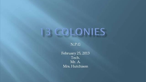 Thumbnail for entry NPGhutchison 13 colonies