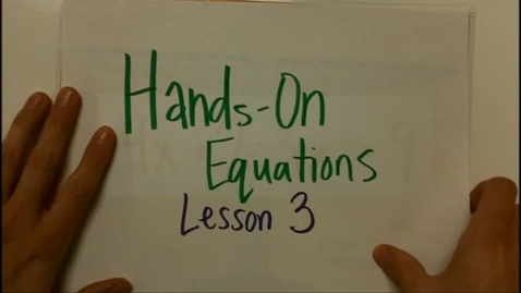 Thumbnail for entry Hands On Equations 3