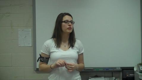 Thumbnail for entry Spring 2012 -- Motivational Speech -- Kelsey Elizer CHOKE 3 -- Mr. Gilbert's class