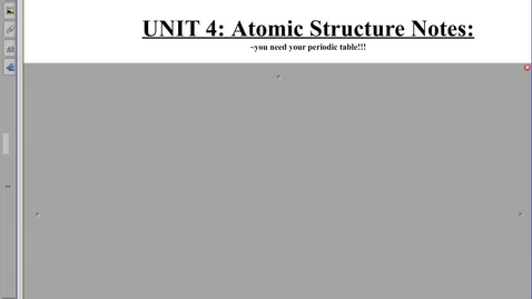 Thumbnail for entry Atomic Structure Notes #1