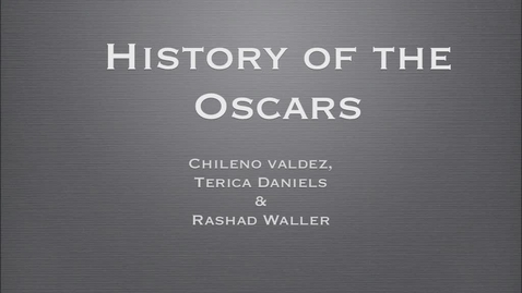 Thumbnail for entry The History of the Oscars
