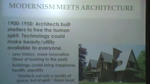 Thumbnail for entry 20th Century Architecture: Prairie School through Art Deco
