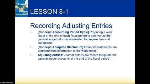 Thumbnail for entry Accounting 1 Chapter 8 Lesson 1