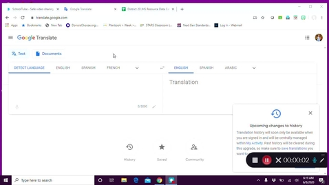 Thumbnail for entry How to Use Google Translate - June 8th 2020, 6:19:14 am