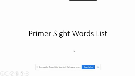 Thumbnail for entry Primer Sight Words That are tappable.mp4