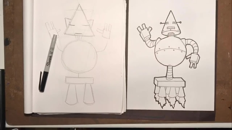 Thumbnail for entry Daniel Boone Art - Robot Drawing Pt 2