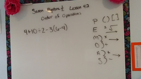 Thumbnail for entry Saxon Algebra 1/2 lesson 42