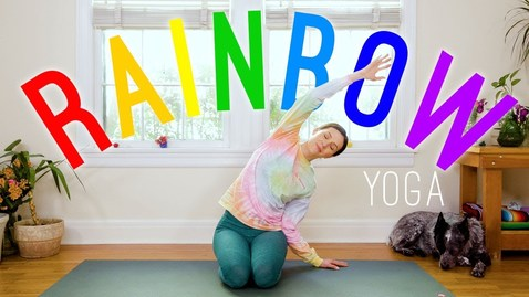 Thumbnail for entry Rainbow Yoga 🌈 Yoga For All Ages!  🌈 Yoga With Adriene