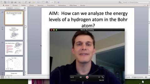 Thumbnail for entry Bohr Model Energy Levels
