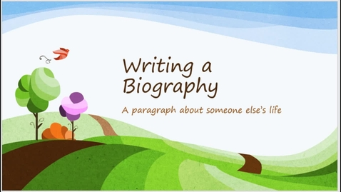 Thumbnail for entry Writing a Biography