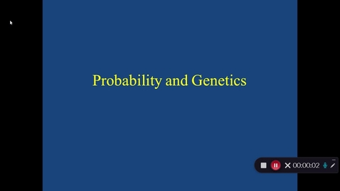 Thumbnail for entry Probability and Genetics