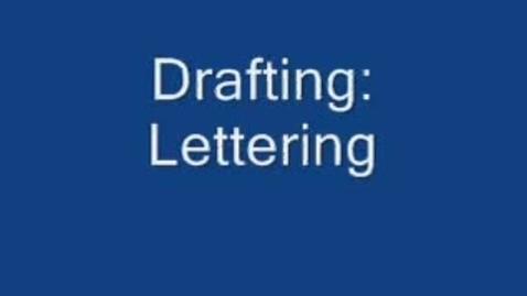 Thumbnail for entry Drafting: Lettering