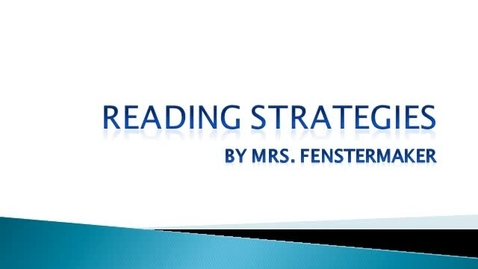 Thumbnail for entry Reading Strategies