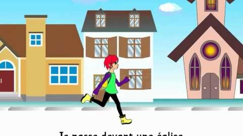 Thumbnail for entry Quand je vais à l'école - French song to learn the places in town
