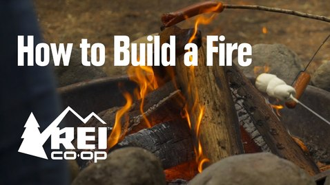 Thumbnail for entry How to Build a Log Cabin Fire || REI