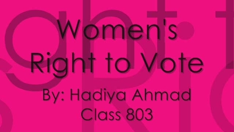Thumbnail for entry Womens voting rights